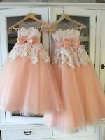 Bridesmaid Wedding Flower Girl Dresses Party Ball Gown Birthday Princess Pageant