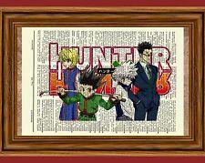 Hunter X Hunter Anime Dictionary Art Poster Picture Gon Killua Leorio Kurapika