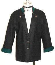 "WOOL German JACKET Coat Women Girl SHORT SLEEVES Winter Blazer BLACK B43"" 12 M"