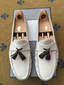Tom Ford Mens Shoes Beige Suede Tassel Loafers UK 9.5 US 10.5 EU 43.5