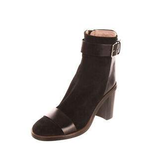 RRP €295 CAVALLINI Leather Ankle Boots EU 38.5 UK 5.5 US 8.5 Heel Made in Italy