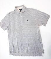 Tommy Hilfiger Poloshirt Polohemd Herren Gr.XL grün gestreift Knopf Piquè -S1312