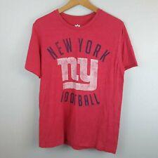 NFL Team Apparel T-shirt New York Giants Red Size Medium