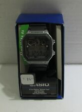 Casio Men's Classic Digital Watch with Black Resin Strap with Grey Accents
