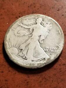 1916 D Walking Liberty Silver Half Dollar, key date      INV08     HL8111
