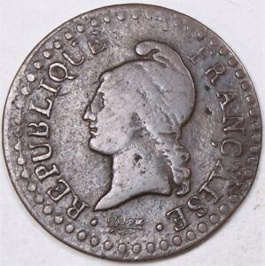 1799 France First Republic Un Centime 828H