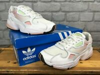 ADIDAS LADIES UK 6 EU 39 1/3 FALCON WHITE PINK LIME TRAINERS RRP £85 EP