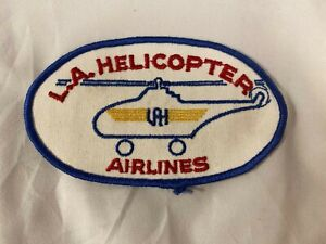 L.A. Helicopter Airlines Embroidered 5x3 Inch Patch Lot 2