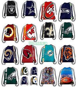 NFL Team Drawstring Backpack sack / Gym bag