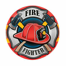 Firefighter Party Paper Dinner Plates - Party Supplies - 8 Pieces