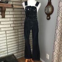 Silver Jeans Womens Flare Bib Overalls Blue Jean Medium Wash 90s vintage