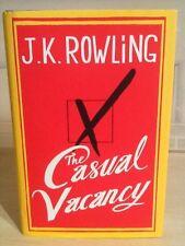 J.K.Rowling, A Casual Vacancy, Little Brown, 2012, HB DJ, 1st/1st