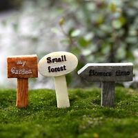 3 Pcs Resin Crafts Figurines Micro Landscape DIY Toy Fairy Garden Miniatures LIA