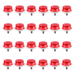 """SUNLITE 1"""" Mini Reflectors w/ Wing Nut - Bike Bicycle Safety 24 Count Red Only"""