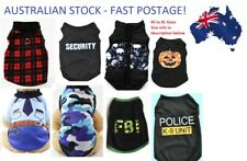 Puppy Dog Cat Clothes Costumes Vests Singlets Summer AUSTRALIAN STOCK