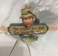 Kurt S. Adler Fishing Fisherman Christmas Tree Ornament New Vintage sealed