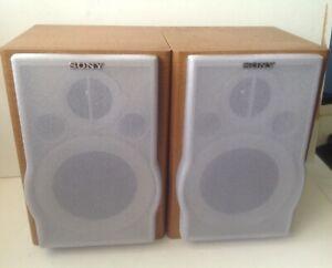 Sony Model SS-CEP707 2-Way 4 ohm Stereo Bookshelf Speakers