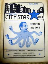 RARE 1973 UNDERGROUND NEWSPAPER - NY City Star - FAR LEFT Anti War Anti NIXON ++