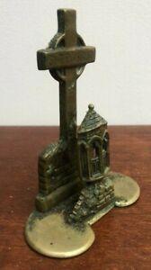 Vintage Decorative Brass Shrewsbury Abbey Stone Pulpit Ornament Letter Rack