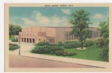 USA, Naval Armory, Detroit, Mich. Postcard, B232