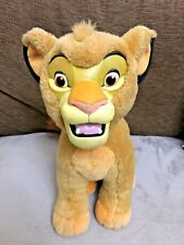 """Lion King Simba Soft Toy with Plastic Face 15"""" / 38cm Used Disney World Rare"""