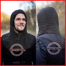 Chainmail Coif Knight Armor Chain Mail Hood Medieval Chain Mail Clothing New v1
