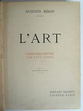 RODIN, Auguste - L'art. Entretiens réunis par P. Gsell - Grasset - 1911 - relié