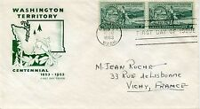 FDC / FIRST DAY COVER / WASHINGTON TERRITORY / 1953 VICHY