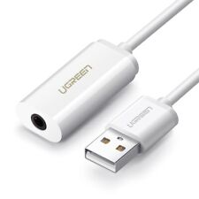 USB External Sound Cards Audio Interface For iPhone Adapter Computer Cables