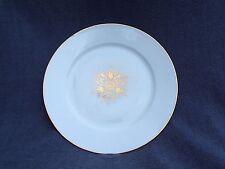 assiette plate  en porcelaine de sèvres décor géométrique à l or signé S 92