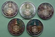 Deutschland 5 x 2 Euro Gedenkmünzen 2015 Hessen commemorative coins A,D,F,G,J