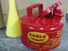 Eagle Safety Gas Can 2 Gallon Osha & Nfpa Approved. New