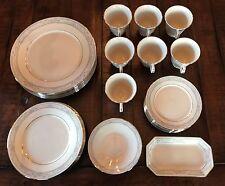 36 Piece Lot of LENOX Charleston China-Plates, Cups, Saucers, Butter Dish EUC