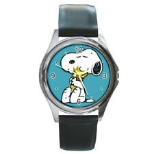 Brand New Snoopy N1 SS Blue Face Leather Band Japan Quartz Watch
