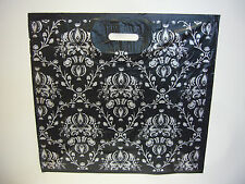 """Large 21"""" x 20"""" DAMASK pattern plastic Fashion Carrier Bags  PACK 50"""