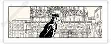 Sérigraphie PRATT Corto à Venise Fable de Venise 250ex 40x100 cm