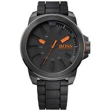 Hugo Boss 1513004 Mens Black Dial Analog Quartz Watch With Silicone Strap