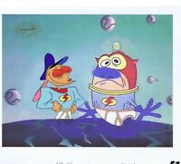 Ren & Stimpy Original 1990's Production Cel Animation Art Black Hole