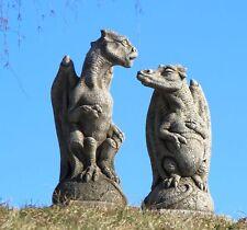 Yorrx Steinfiguren Drachenpaar Torwächter, Türsteher, Gartenskulptur Neu**
