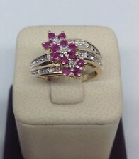 Ladies Ruby And Diamond Ring