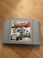 F-1 World Grand Prix Nintendo 64 N64 Game Cart Tested Good Works BA5