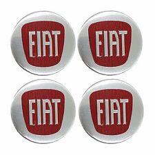 Fiat EMBLEM WHEEL CENTRE CAP STICKER LOGO BADGE SET OF 4 NEW  55mm WHEEL TRIMS