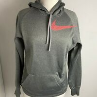 Nike women's Athletic Therma-Fit Hoodie Sweatshirt Gray Size Small