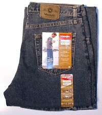 New Wrangler Five Star Men's Relaxed Fit Jeans Vintage Denim Color All Sizes