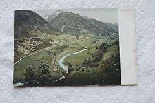 Old Vintage Postcard Gotthardbahn The 3 lines of Gotthard Railway Wassen Swiss