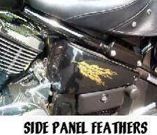 Kawasaki Drifter Indian side panel feathers decals