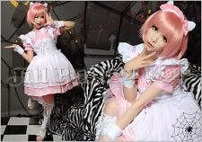 Lolita japan Kera Dreamy Cafe waitress Cosplay maid dress costume JJ3006 P