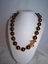 Crystal Necklace Glass Pearl and