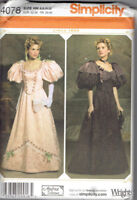 Victorian Era Dress Circa 1895 Misses size 6-12 Simplicity 4078 Sewing Pattern