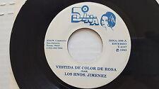 """LOS HNOS. JIMINEZ - Vestida de Color De Rosa 1983 RANCHERA TEJAN Tex-Mex 7"""" Dina"""